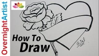Видео: как нарисовать сердце с розой