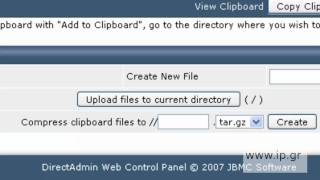 Manage files from Direct Admin control panel