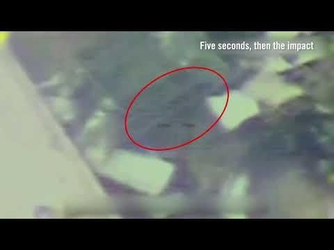 Un lance-roquettes du Hamas intégré dans une structure civile