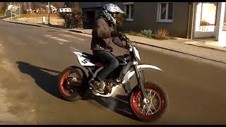 8. Driving with my HUSQVARNA TC 510 2010 supermoto only insane engine sound