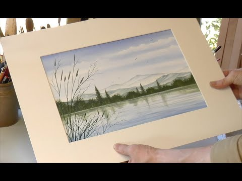 A 30 Minute Watercolour Painting, a Mountainside Lake (видео)