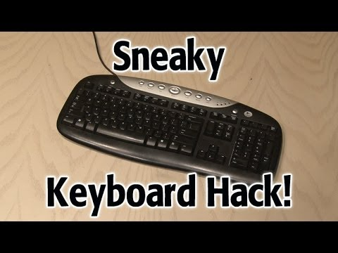 keyboard - Use a keyboard to make a secret stash hiding place! Watch the ILLUMINATE YOUR KEYBOARD HACK! http://www.youtube.com/watch?v=iOn72Y5DT6M GET A FREE DIY MINI-C...
