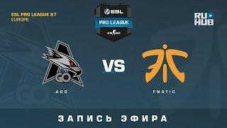 AGO vs Fnatic - ESL Pro League S7 EU - de_cobblestone [yXo, CrystalMay]