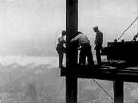 empire state building - Archive footage from the building of Empire State Building.