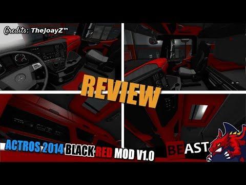 Actros 2014 Black Red Mod 1.28