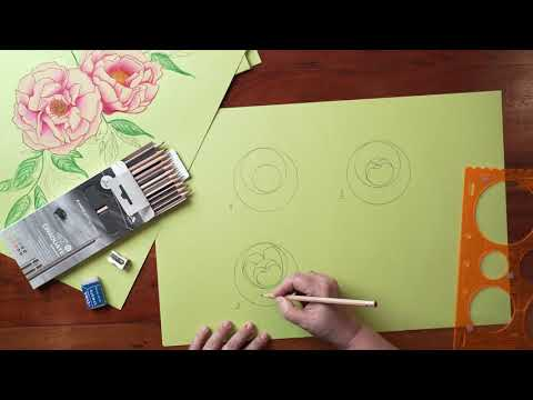 Méthode facile pour dessiner une fleur avec Canson Colorline