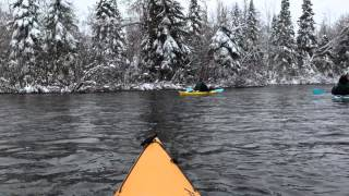Hayward (WI) United States  City pictures : Kayaking with virgin snow on Namekagon River in Hayward, WI.