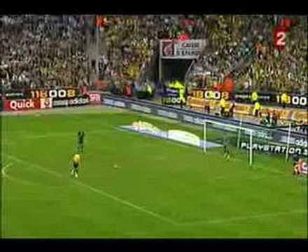 Penal ante el Marsella en la final de la Copa de Francia