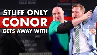 Video 10 Crazy Things Only Conor McGregor Can Get Away With MP3, 3GP, MP4, WEBM, AVI, FLV Oktober 2018