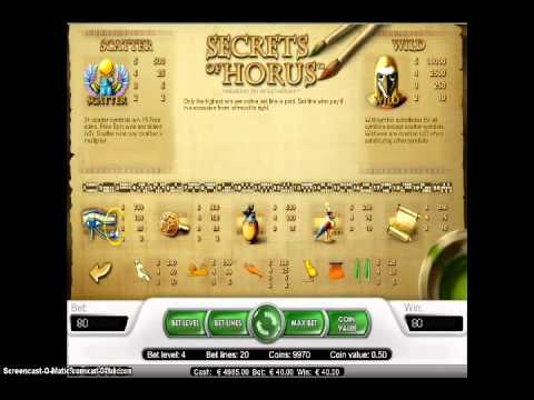 How to play Secrets of Horus NETENT Slot Game