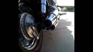 8. 2009 Honda Shadow Aero 750 with stock exhaust and baffles.MOV