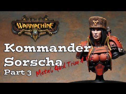 Painting Kommander Sorscha Bust Part 3 - Metal, Gold Trim & Fur