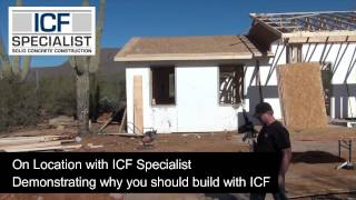 The high-mass walls of an ICF structure are solid and make it safer for the family with increased security from the added benefit of being bulletproof.They are 10 times stronger than standard built homes.ICF Homes are concrete investments with a proven track record of withstanding the extremes of hurricanes, tornadoes, and fires. They have a 4-hour fire rating. Many insurance carriers are now offering a discount on a home owner's policy for an ICF home, up to 10% lower insurance premiums.Benefits of building with Insulated Concrete Forms (ICFs) • UP TO 70% OF ENERGY COST• 10% LOWER INSURANCE PREMIUMS• BULLET PROOF• INCREASED SECURITY• 75% LESS OUTSIDE AIR INFILTRATION• UP TO R-40 WALL INSULATION VALUE• 10 TIMES STRONGER THAN WOOD• 3 TIMES QUIETER THAN WOOD • 4-HOUR FIRE RATING Why build any other wayhttps://www.icfspecialist.com/CALL FOR A FREE ESTIMATE 623.935.5004