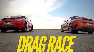 Drag Race : BMW Z4 M40i VS Porsche Boxster GTS by Motorsport Magazine