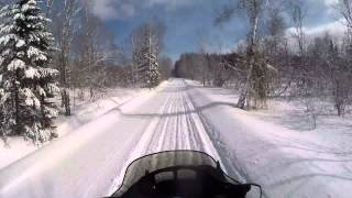 9. Awesome Snowmobile trail Eden Vermont