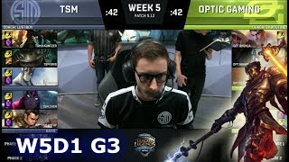 Video TSM vs OpTic Gaming | Week 5 Day 1 S8 NA LCS Summer 2018 | TSM vs OPT W5D1 MP3, 3GP, MP4, WEBM, AVI, FLV Agustus 2018