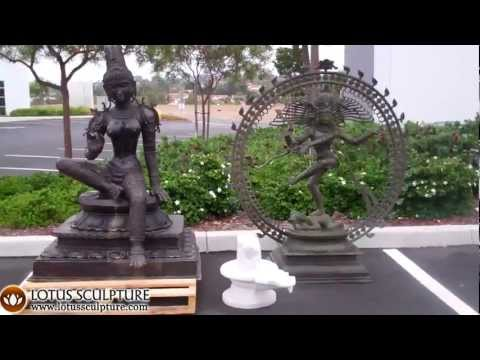 SOLD Large Brass Nataraja Statue 58