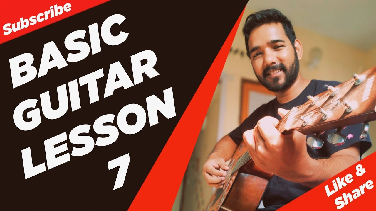 Basic Guitar Lesson 7 for Beginners in (Hindi) by