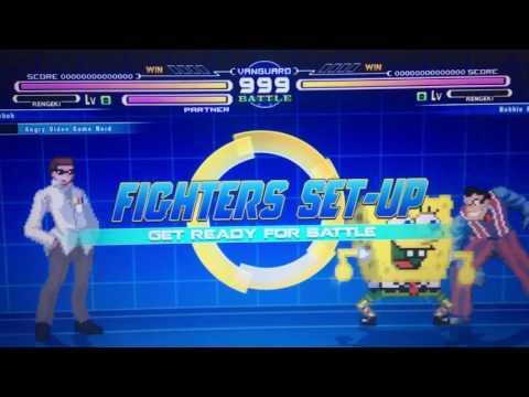 SpongeBob SquarePants & Angry Video Game Nerd VS Robbie Rotten Mugen Fight