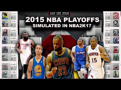 2015 NBA PLAYOFFS SIMULATED ON NBA2K17!!! #ThrowBack