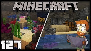 Building with fWhip : UNDERWATER CAVE BASE #127 MINECRAFT 1.13 Let's Play Single Player Survival
