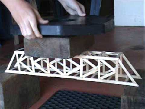 Truss Bridges Made Out Of Popsicle Sticks