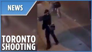 Toronto shooting: the moment gunman opened fire
