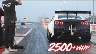2500HP GTR on RAILS into the 6's! by  That Racing Channel