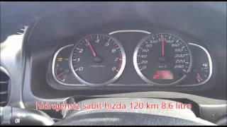 Mazda 6 2000 cc yakıt tüketim testi, / UCR Hidrojen Yakıt Sistem montajı