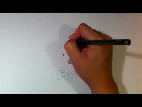Struppi von Tim und Struppi zeichnen lernen / Hund Struppi malen