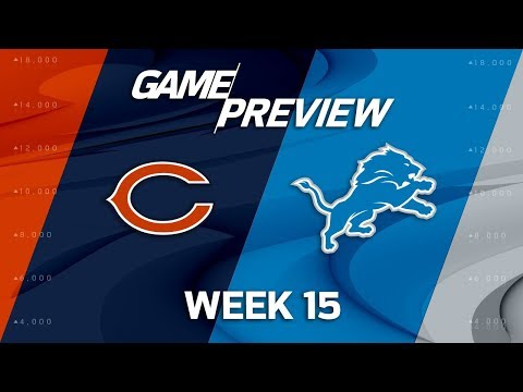 Video: Chicago Bears vs. Detroit Lions | NFL Week 15 Game Preview | NFL Playbook