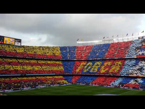 FC Barcelona Anthem Vs Real Madrid El Clasico Live At Camp Nou December 2016