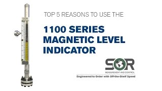 Top 5 Reasons to Use the SOR 1100 Series Magnetic Level Indicator