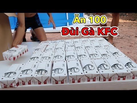 Lamtv - Ăn 100 Cái Đùi Gà KFC và Tắm Bể Bơi Đá Khô CO2 Khổng Lồ | KFC Chicken 100 Thighs - Thời lượng: 10:02.
