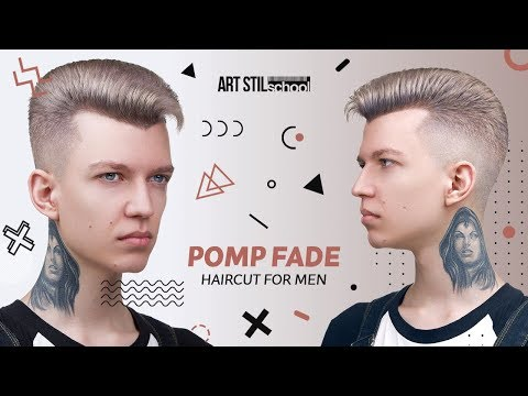 Mens hairstyles - Pomp Fade Haircut For Men