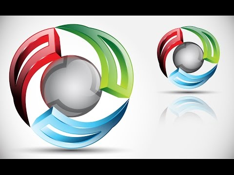 logo - This video is example how to create 3D objects in vector format. More design works: http://www.clevermarkdesign.com More logo design: http://www.clevermarkde...