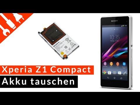 Z1 Compact Akku Reparatur Sony Xperia Z1 Compact Batterie wechseln Tutorial HD