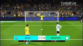 Video PES 2018   BRAZIL vs ARGENTINA   Penalty Shootout   NEYMAR vs MESSI MP3, 3GP, MP4, WEBM, AVI, FLV Juli 2018