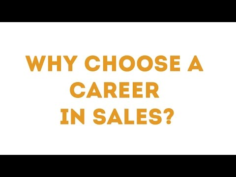 Why Choose A Career In Sales?
