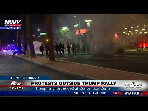 Video - Μεγάλη διαδήλωση κατά του Τραμπ στην Αριζόνα