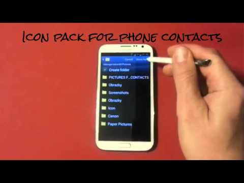 Video of Icon pack for phone contacts