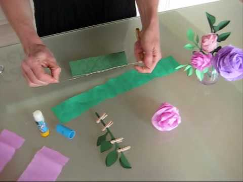 Vid o comment faire des roses en papier cr pon le blog de - Creation papier crepon facile ...