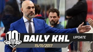 Daily KHL Update - November 15th, 2017 (English)