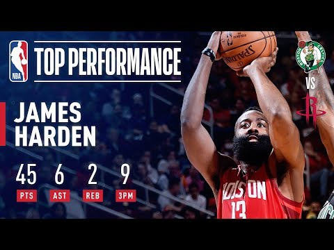James Harden Drills NINE 3's And Drops 45 Points In Rockets' Win