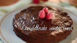 Eenvoudige chocoladecake zonder meel