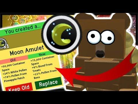3x MOON AMULET *UPGRADE* & FINAL Sun Bear Quest! | Roblox Bee Swarm Simulator