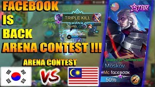 FACEBOOK IS BACK !!! AWALNYA DI BULLY, LIHAT DI LATE GAME !!! MALAYSIA VS KOREA - ARENA CONTEST