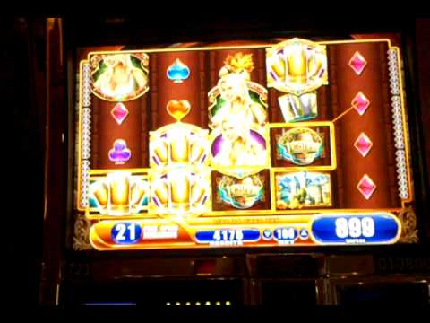 Bier Haus slot machine bonus round, 2 retriggers, Bally's Las Vegas, April 2012
