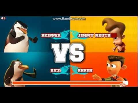 Super Brawl 2 - SKIPPER & RICO vs JIMMY & SHEEN