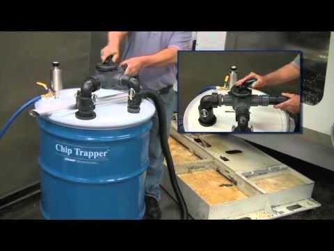 Chip Trapper Vacuums Contaminated Liquid, Pumps Out Clean Liquid